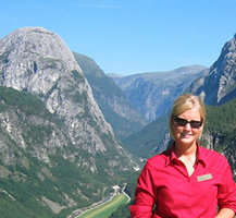 A local tour guide of Voss og fjordane Guideservice AS.