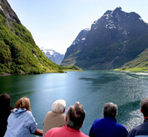 Cruise on the Naeroy Fjord. By Vidar Herre.